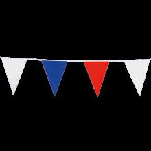 Vlaggenlijn slinger 10 meter rood-wit-blauw